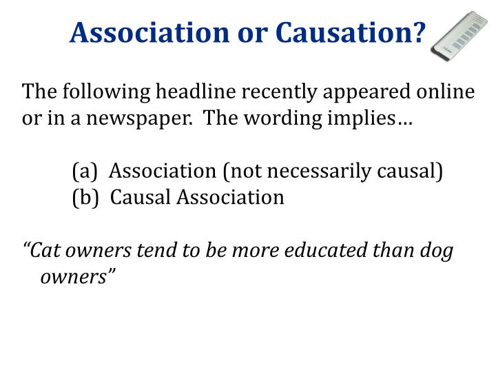 Association or Causation?