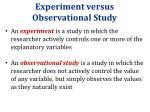 experiment versus observational study