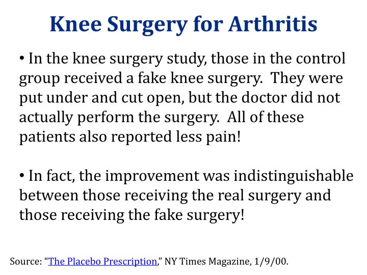 Knee Surgery for Arthritis
