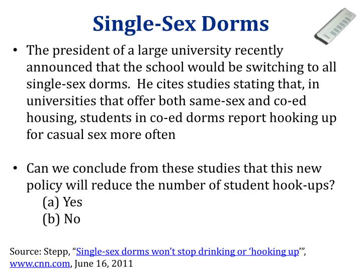 Single-Sex Dorms