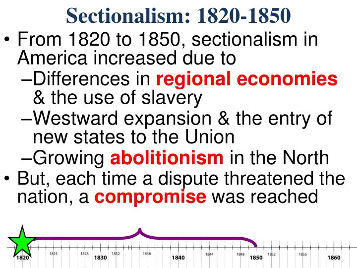 Sectionalism: 1820-1850
