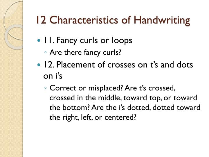 Handwriting analysis loops o from bottom