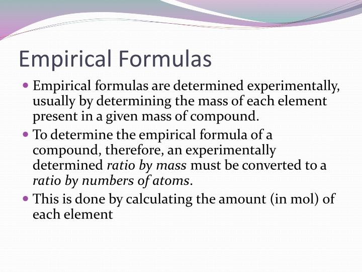 Empirical Formulas