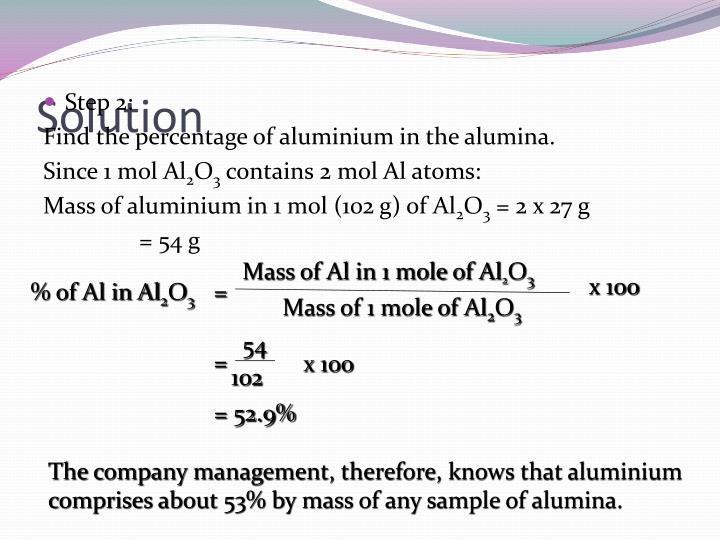 Mass of Al in 1 mole of Al