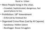 rural vs urban