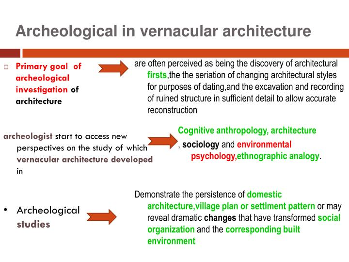 Archeological in vernacular architecture