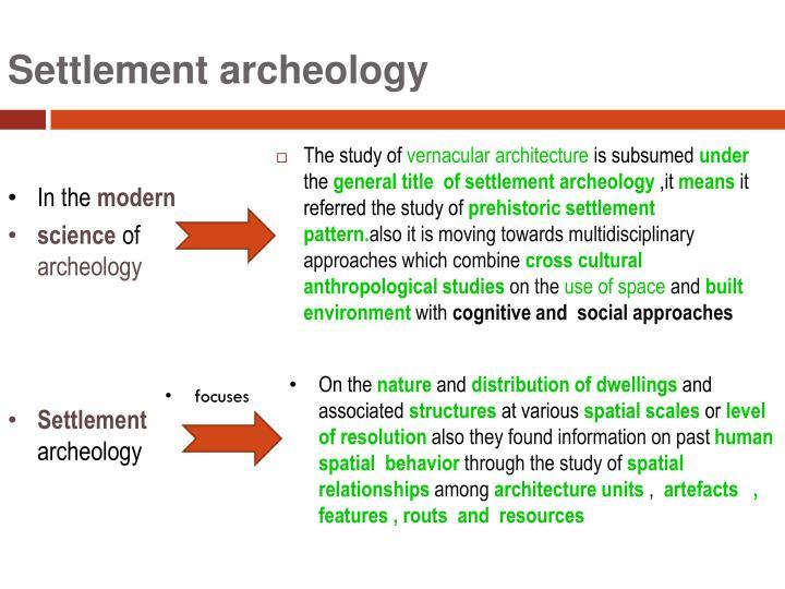 Settlement archeology