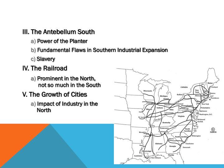 III. The Antebellum South