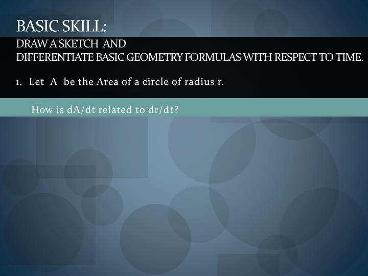 BASIC SKILL: