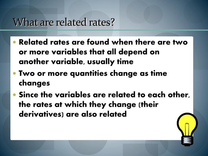 What are related rates