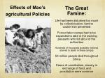 effects of mao s agricultural policies