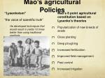 mao s agricultural policies