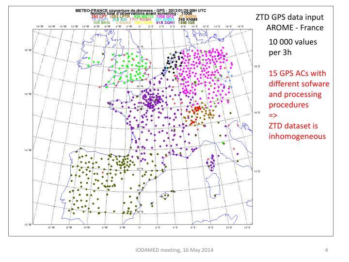 ZTD GPS data input