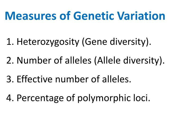 Measures of Genetic Variation