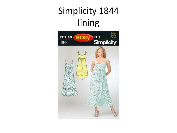 Simplicity 1844
