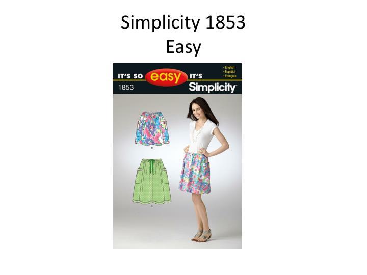 Simplicity 1853