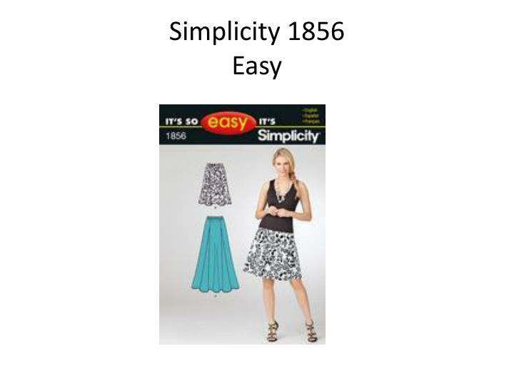 Simplicity 1856