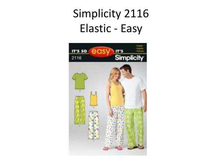 Simplicity 2116