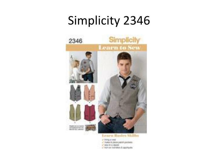 Simplicity 2346