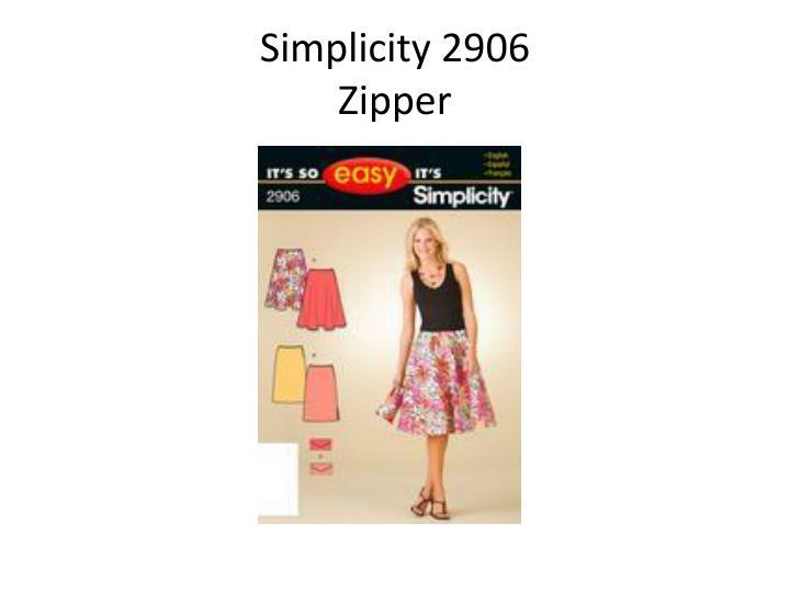 Simplicity 2906