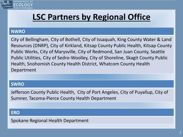 Lsc partners by regional office