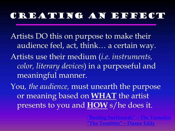 Creating an EFFECT