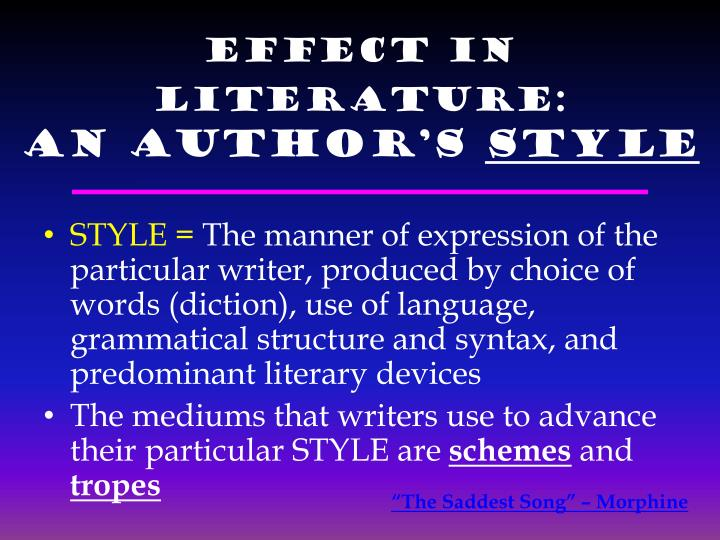 Effect in Literature: