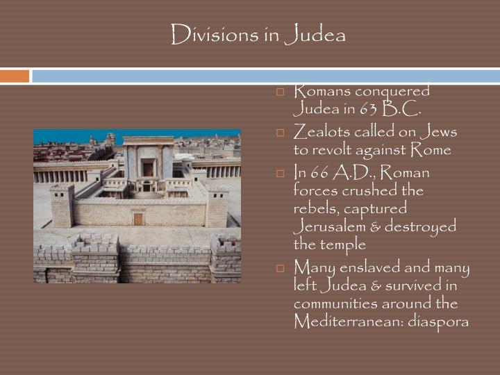 Divisions in Judea