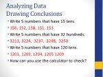 analyzing data drawing conclusions1