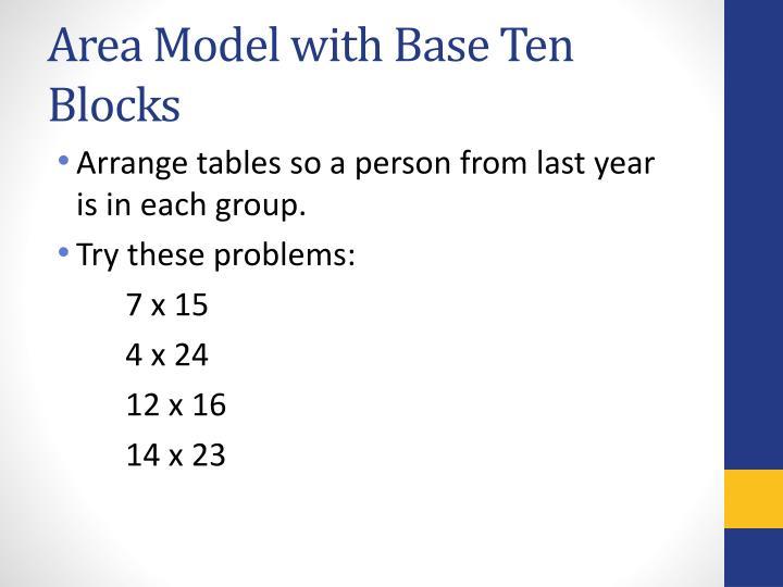 Area Model with Base Ten Blocks