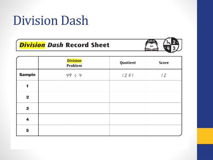 Division Dash