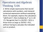 operations and algebraic thinking 5 oa