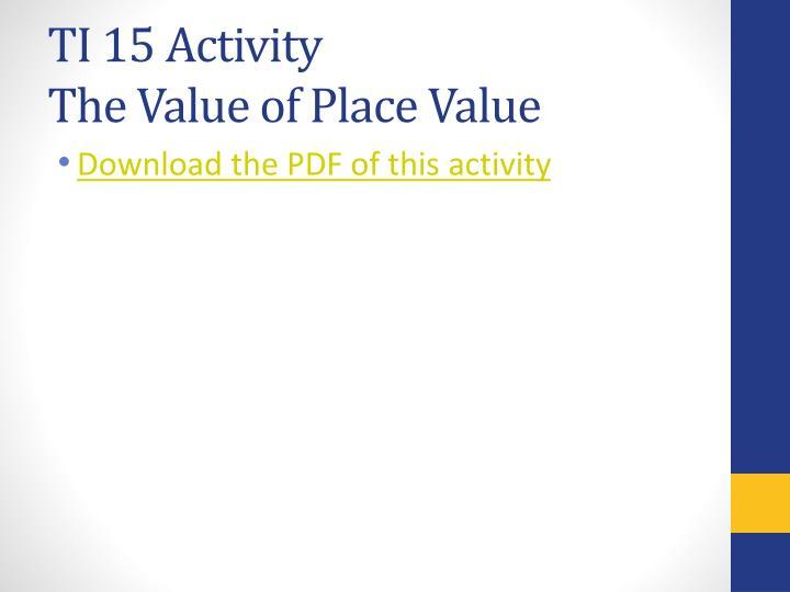 TI 15 Activity