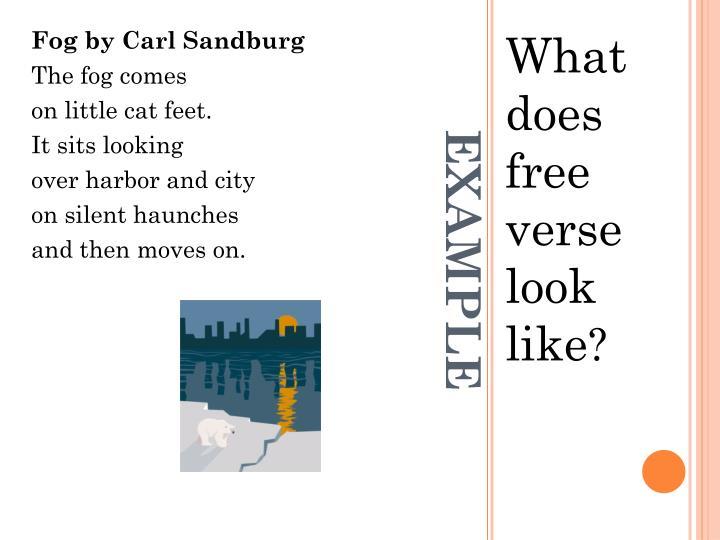 Fog by Carl Sandburg