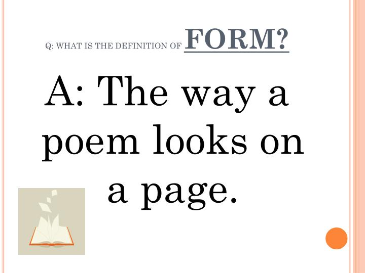 Q what is the definition of form