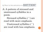 q what is the definition of rhythm