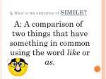 q what is the definition of simile