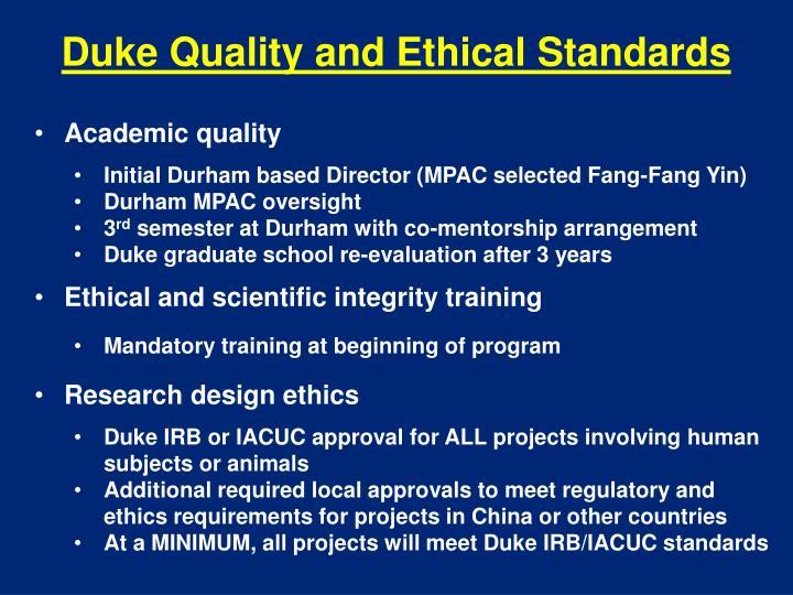 Duke Quality