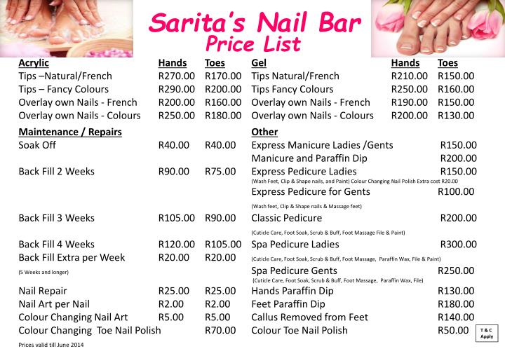 Sarita s nail bar