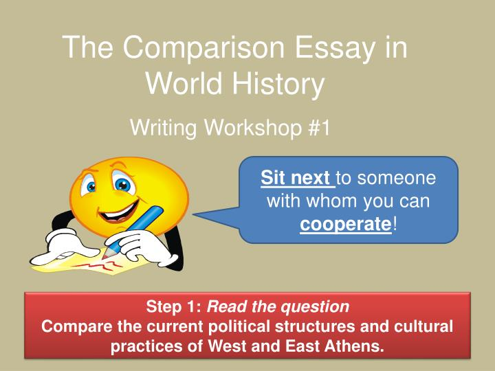 parts of comparative essay Comparative analysis essay as part of academic requirements, students will be asked to write an essay that compares two different texts, people, theoretical ideas or historical events a comparative analysis essay focus on finding the most significant differences or similarities about facts or events.