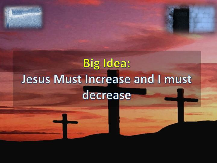 Big idea jesus must increase and i must decrease
