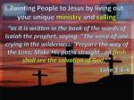 pointing people to jesus by living out your unique ministry and calling