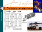1 container terminal operations