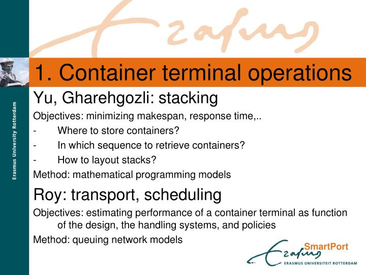 1. Container terminal operations