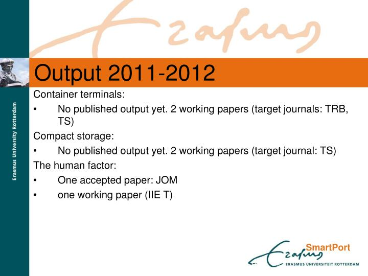 Output 2011-2012