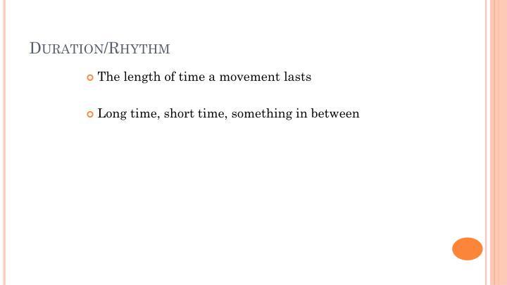 Duration/Rhythm