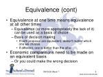 equivalence cont