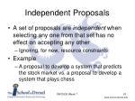 independent proposals