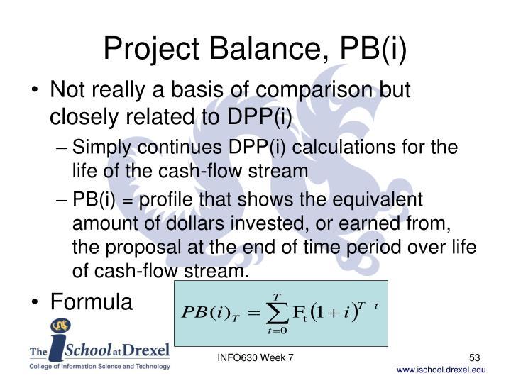 Project Balance, PB(i)