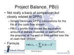 project balance pb i